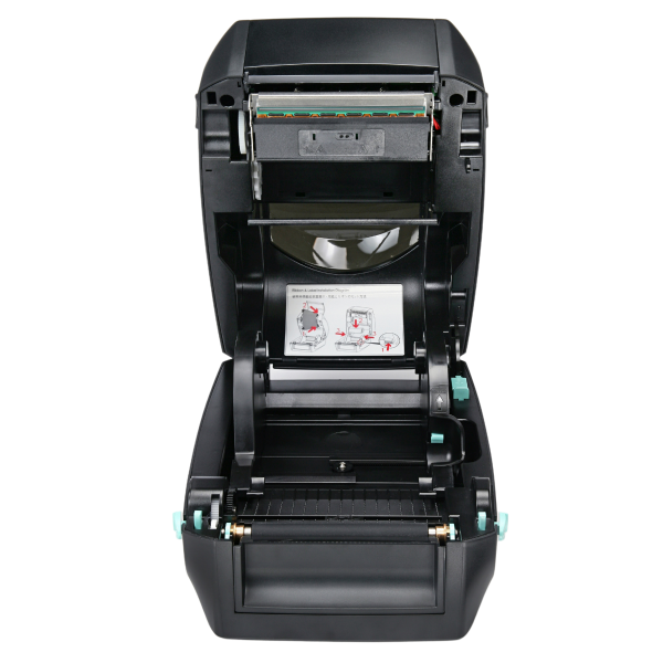 Desktop Etikettendrucker CPD200 mit nach oben öffnendem Gehäuse