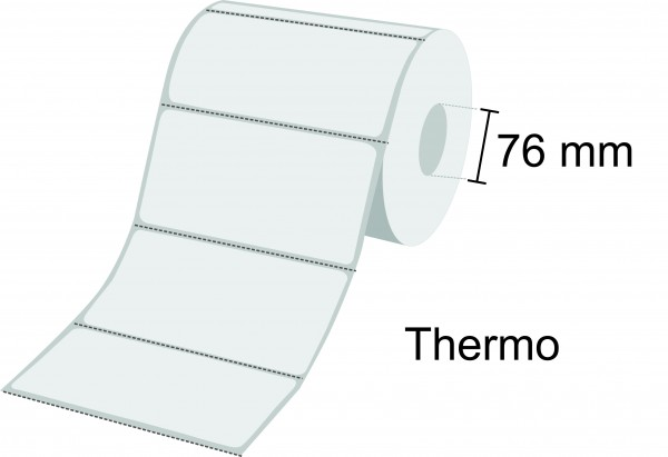 Zebra Etikettenrolle Z-Select 2000D, Thermo, 76mm Kern, perforiert