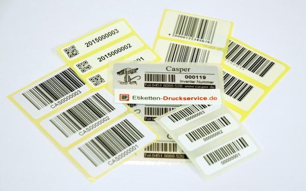 Muster-Etiketten-Set