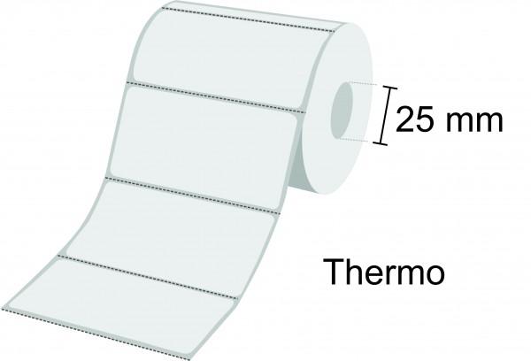 Zebra Etikettenrolle Z-Select 2000D, Thermo, 25mm Kern, perforiert, ablösbar