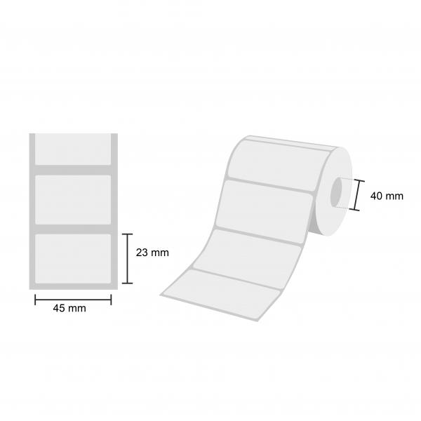 Blanko Etiketten 45 x 23 mm