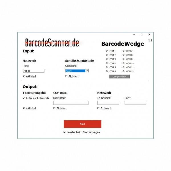 BarcodeWedge im Bundle WLAN Barcode Scanner