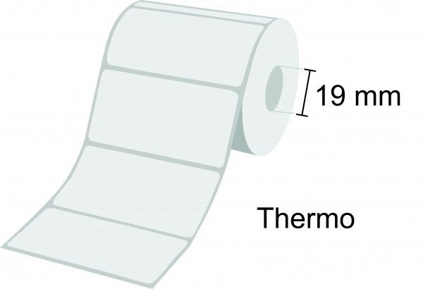Zebra Etikettenrolle Z-Perform 1000D, Thermo, 19mm Kern, Blackmark