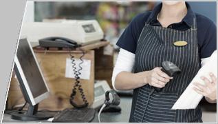 Barcodescanner für den Einsatz an der Kasse
